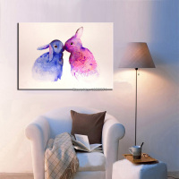 High Skills Artist Hand painted High Quality Modern Bunny Oil Painting For Living Room Modern Rabbit Oil Painting Decoration