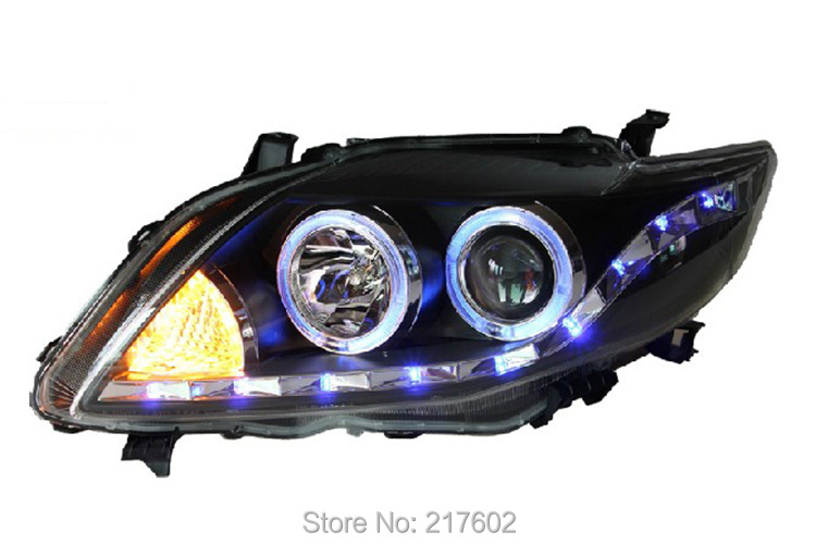 Car lights Assembly for Toyota Corolla Headlights angel eyes 2008-2010 V2 LF yatour car adapter aux mp3 sd usb music cd changer 6 6pin connector for toyota corolla fj crusier fortuner hiace radios