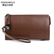 FD POLO Brand Bag Men Leather Wallet Carteras Billeteras porte monnaie Purses Men Clutch Bags Men's Monederos Wallets Leather