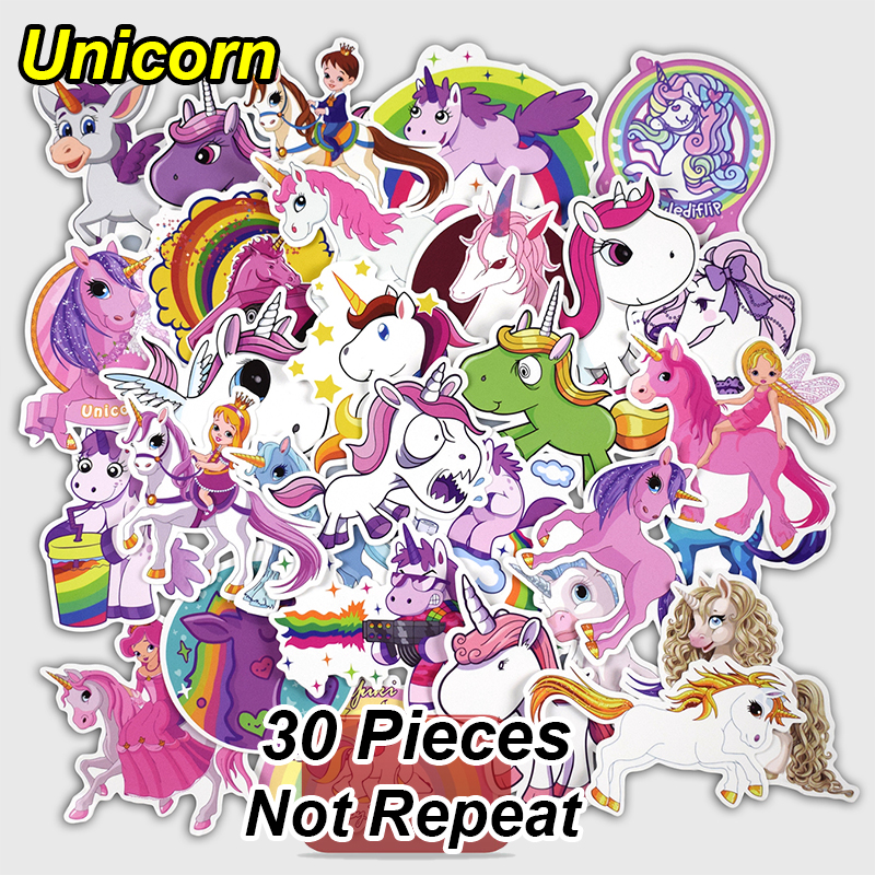 חדש קבוע 30 מחשבים אישיים Unicorn סטיקרים - צעצועים קלאסיים