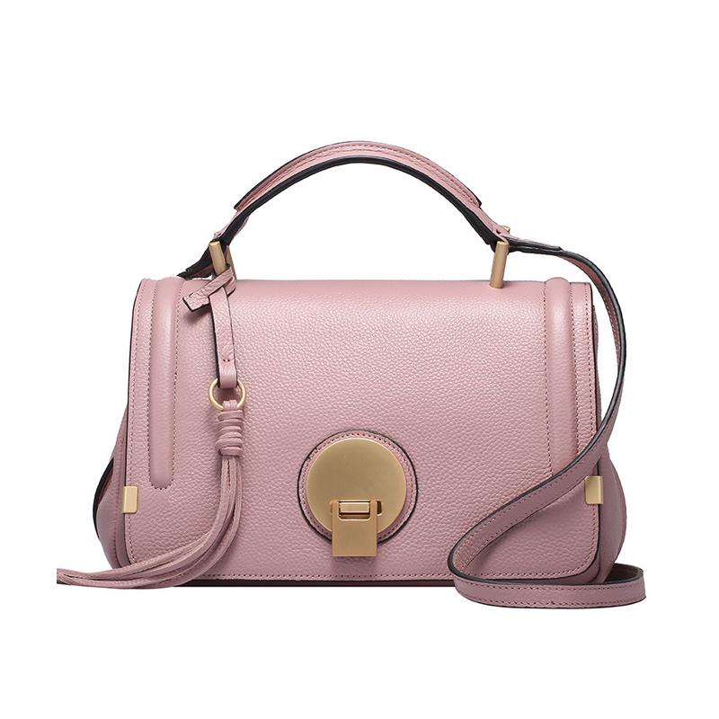 New 2016 Genuine Leather Women Pink Bag Small Handbag Designer Brands Real Leather Crossbody Bag Ladies Hand Bags Shoulder Bags genuine leather studded satchel bag women s 2016 saffiano cute small metal rivet trapeze shoulder crossbody bag handbag