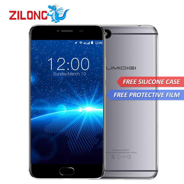 "Original Umidigi C Hinweis Android 7.0 Handy 3G RAM 32G ROM 3800 mAh Quad Core 4G 5,5 ""1920x1080 13MP Fingerabdruck Handy"