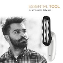 Professional Mens Hair & Beards Comb Ionic Ceramic Heat Brush Fast PTC System Anti Scald Nylon Bristles Straightener