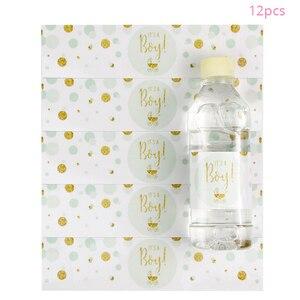 Image 2 - Bebek Duş 12 adet bir Erkek! Bu bir Kız Şişe Etiketleri Cinsiyet Reveal Parti Dekorasyon Malzemeleri Bebek Duş Erkek Kız Sopa
