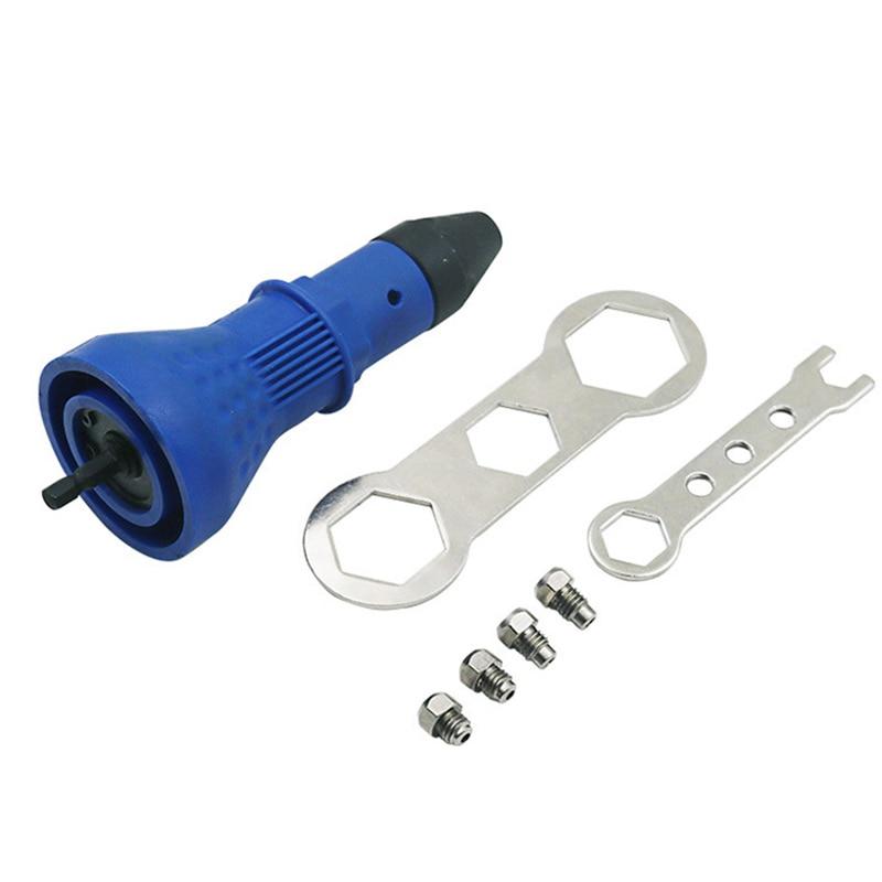 Multifunction Nail Gun Rivets Electric Pull Rivet Conversion Adapter Electric Rivet Nut Guns Riveting Drill Adaptor Nut Tool