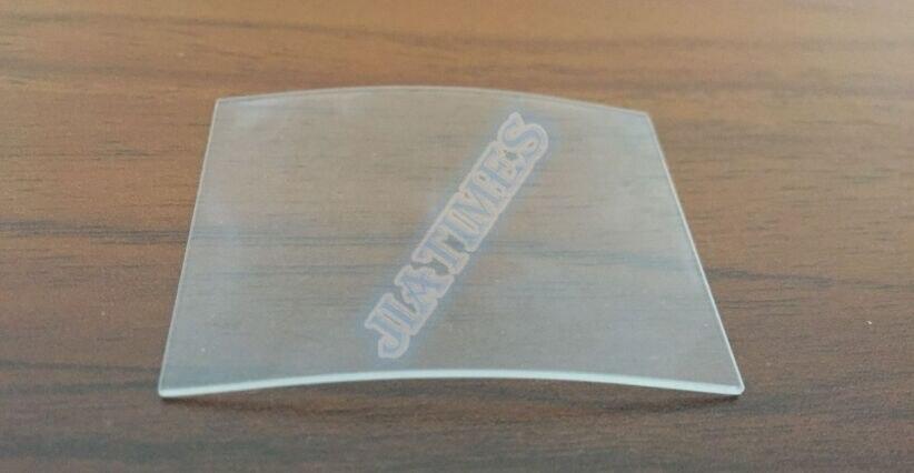 Livraison Gratuite 20 pcs Rectangulaire Minéral Courbe Cristal 1.0mm Épais Blancs pour Montre Remplacement