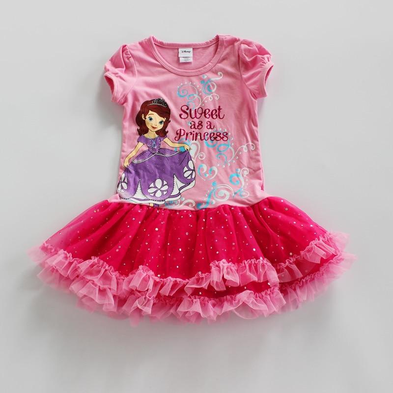 ,4pieces/lot new children SOFIA princess dress girl summer smart,sofia dress for summer,girls sofia clothing