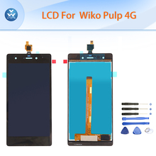 Original LCD For Wiko Pulp 4G LCD display touch screen digitizer glass assembly pantalla black white phone parts repair+tools