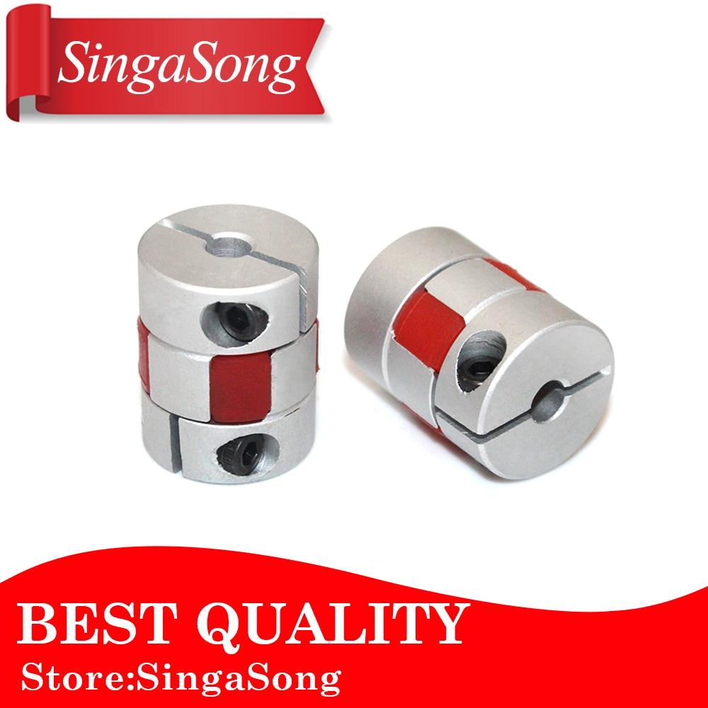 Flexible plum clamp coupler D20 L30 shaft size CNC Jaw shaft coupling 4/5/6/6.35/7/8/10mm 5mm 8mm цена