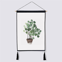 Nordic Hanging Painting Modern Prints Plant Watercolor Leaf Art Posters Green Wall Pictures Living Room Home Decor