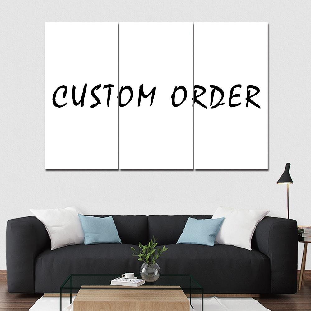 Set of 3 Panel Individual Canvas Art Custom Images Multi Poster Wall Decor Prints
