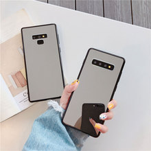 Luxe Bling Make Up Spiegel Telefoon Geval Voor Samsung S8 S9 S10 Plus S7 Rand A5 2017 J6 Plus A50 A70 note 9 Shockproof Tpu Cover