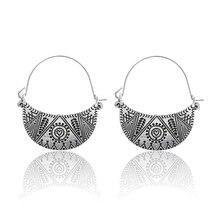 Fashion  Metal Tassel Dangle Earrings Geometric Earrings Long Earrings For Women Ethnic Indian Jewelry Bohemian Earrings E0484