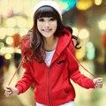 2017 otoño nuevas mujeres harajuku chándal tamaño grande gruesa chaqueta con capucha casual bigote impresión de la historieta mujeres camiseta sudadera XXL