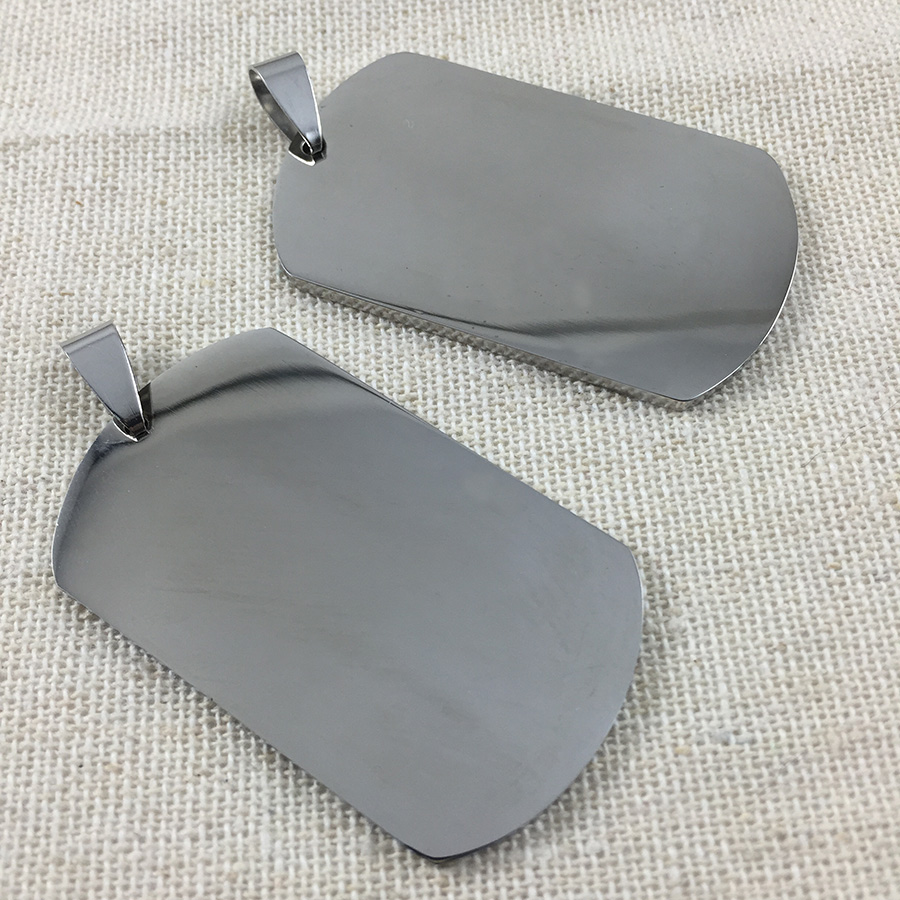 STAINLESS STEEL DEBOSSING MACHINE #1 DOG TAG MILITARY GENUINE ISSUE DULL
