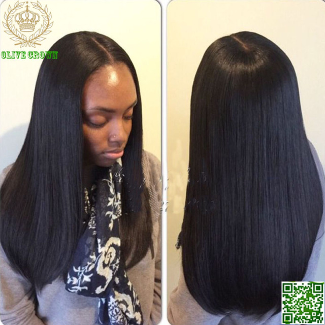 Silky Straight U Part Wigs Human Hair Brazilian Virgin Upart Middle