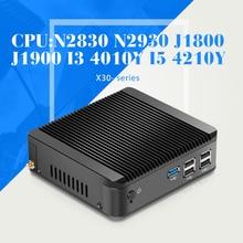 Precio barato MINI PC de oficina mini computadora Celeron J1900 J1800 N2830 N2930 N28402.16GHZ N2940 CPU htpc juegos caja de tv pc delgada cliente