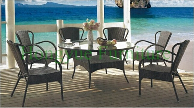 Rattan dining set furniture for home kitchen