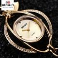 Weiqin pétalas sorte pulseira relógios mulheres ouro de cristal relógio de strass moda senhoras Relogio casuais Feminino orologio donna