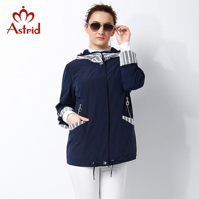 Астрид Новый 2017 пальто высокого качества для женщин Плюс Размер Женщин ветровки Весеннее пальто Большой размер Женские пальто AS-2800