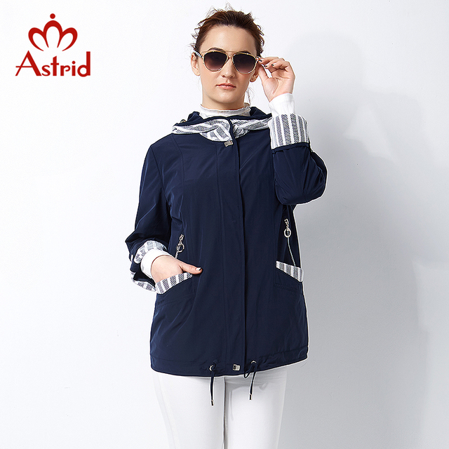 Astrid New 2017 High quitly Trench Coat for Women Plus Size Women's Windbreaker Spring Coat Big Size Womens Trench Coats AS-2800