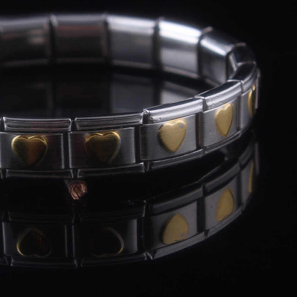 זהב אהבת עיצוב אופנה בריאות אנרגיה צמיד צמיד גברים 316L נירוסטה ביו מגנטי צמידי שחור וזהב תכשיטים