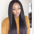 Queen Hair Products 7A Lace Front Wigs Natural Straight 8-26 inch Unprocessed Swiss Lace Wig Grade Peruvian straight hair Wig