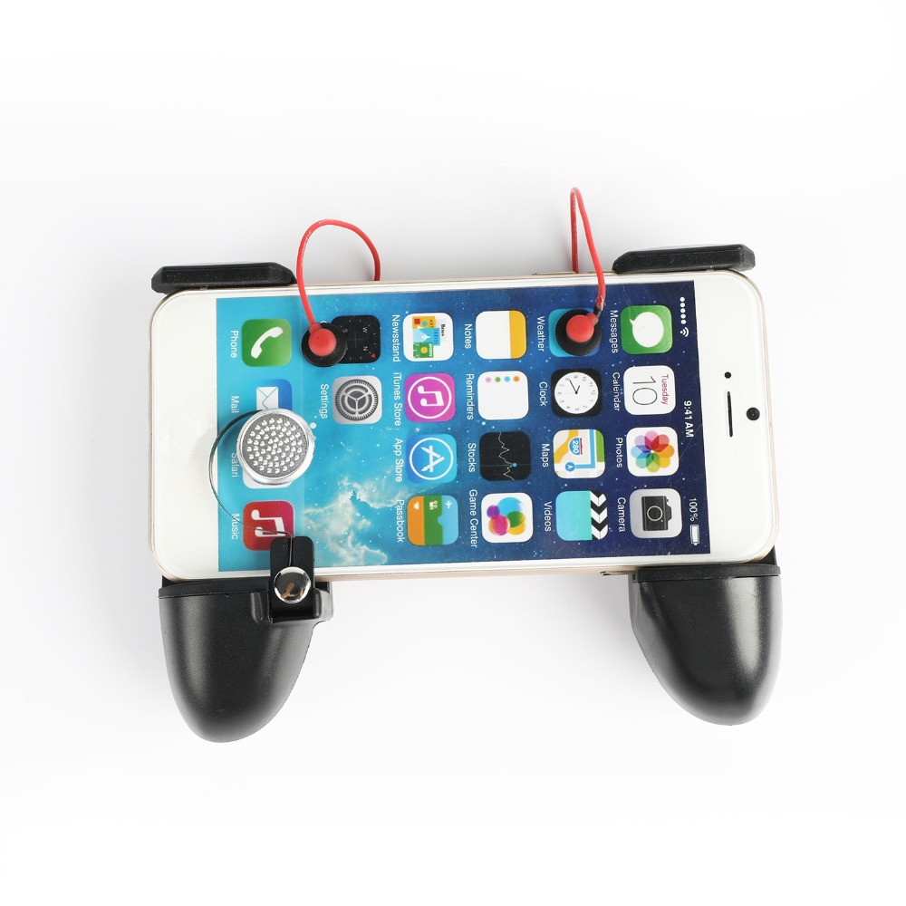 2 In 1 Universal Mobile Phone Gamepad Controller L1R1 Trigger Fire Button Shooter Controller For PUBG For Iphone Android