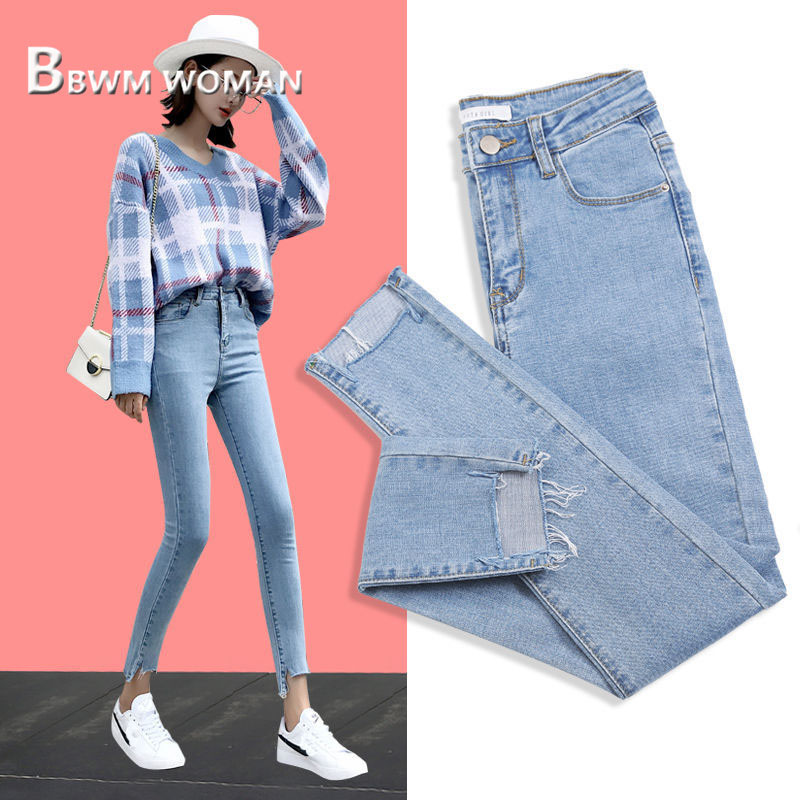 2019 Slim Women Jeans 3 Color Can Choose Tight Female Pants Trousers