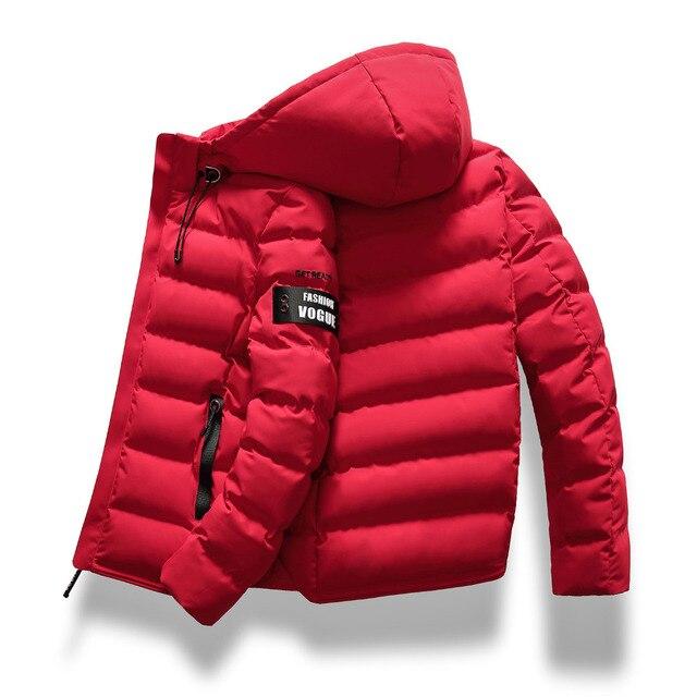 Прямая доставка, новая модная мужская зимняя куртка, пальто с капюшоном, теплое мужское зимнее пальто, повседневное приталенное студенческое мужское пальто, ABZ82