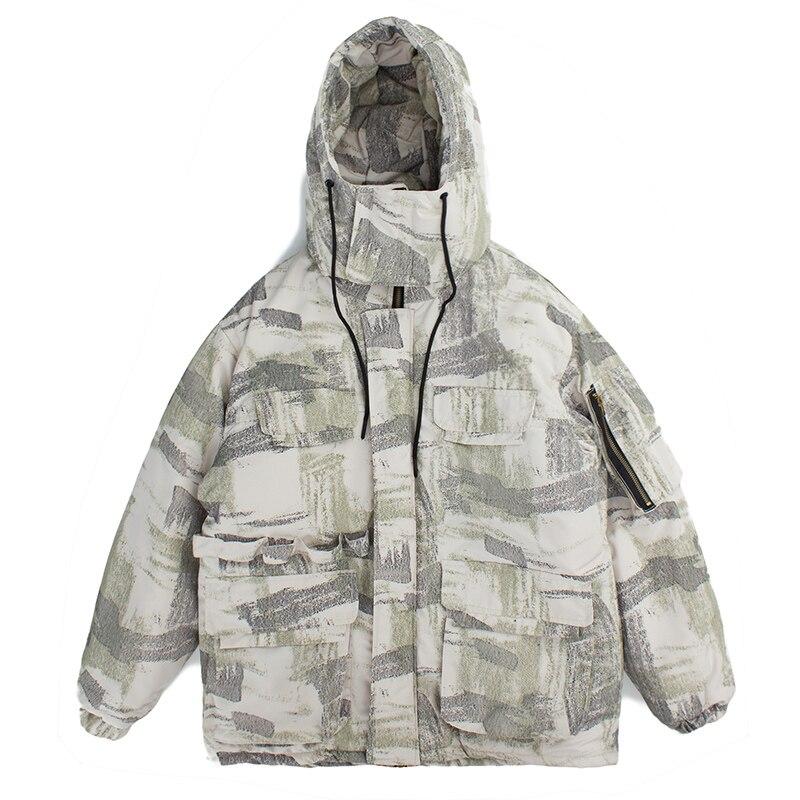 Parka Lâche Survêtement D'hiver Capuche camouflage Taille Femmes Veste Chaud Ouatée Camouflage Manteau À Black Mode De Hip Hop Plus Coton La 4wnWUqWxzO