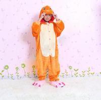 Free Shipping New Pokemon Charmander Unisex Children Animal Onesie Cosplay Costume Pajamas Hot Sale Kids Onesie