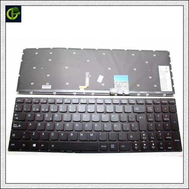 Backlit teclado espanhol para Lenovo Y50 Y50-70 Y50-70A Y50-70AM-IFI Y50-70AS-ISE Y70 Y70-70T U530 U530P U530P-IFI Latina LA SP