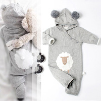 0 3 Years Wholesale 2017 New Baby Girls Knitting Rompers Autumn Winter Carton Cute Soft Toddler