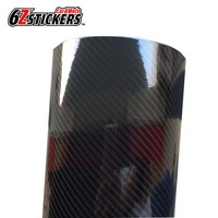 6zstickers 50CMx200CM 5D Carbon Fiber Vinyl Car Wrap Film DIY High Glossy Car Stickers And Decals