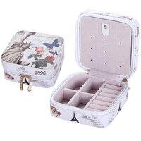 Creatieve Sieraden Doos Mini PU Lederen Kist voor Sieraden Travel Case Beste Verjaardagscadeau Ring Oorbellen Ketting Opslag