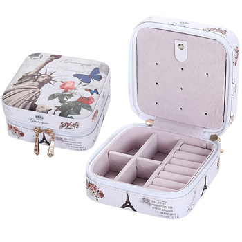 Creative Jewelry Box Mini PU Leather Casket for Jewelry Travel Case Best Birthday Gift Ring Earrings Necklace Storage