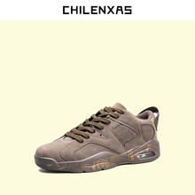 CHILENXAS 2017 Spring Autumn Camouflage Unisex Slipony Leather Men Shoes Casual Breathable Lace-up Solid Height Increasing New