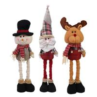 New Year Decor Extend Santa Claus Snowman Reindeer Doll Christmas Decoration Xmas Tree Hanging Ornaments Pendant