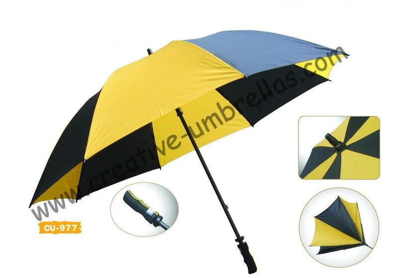 Free shipping by sea14mm fiberglass shaft and ribs,golf umbrella,windproof,anti-thunderbolt,anti-static,pongee fabric