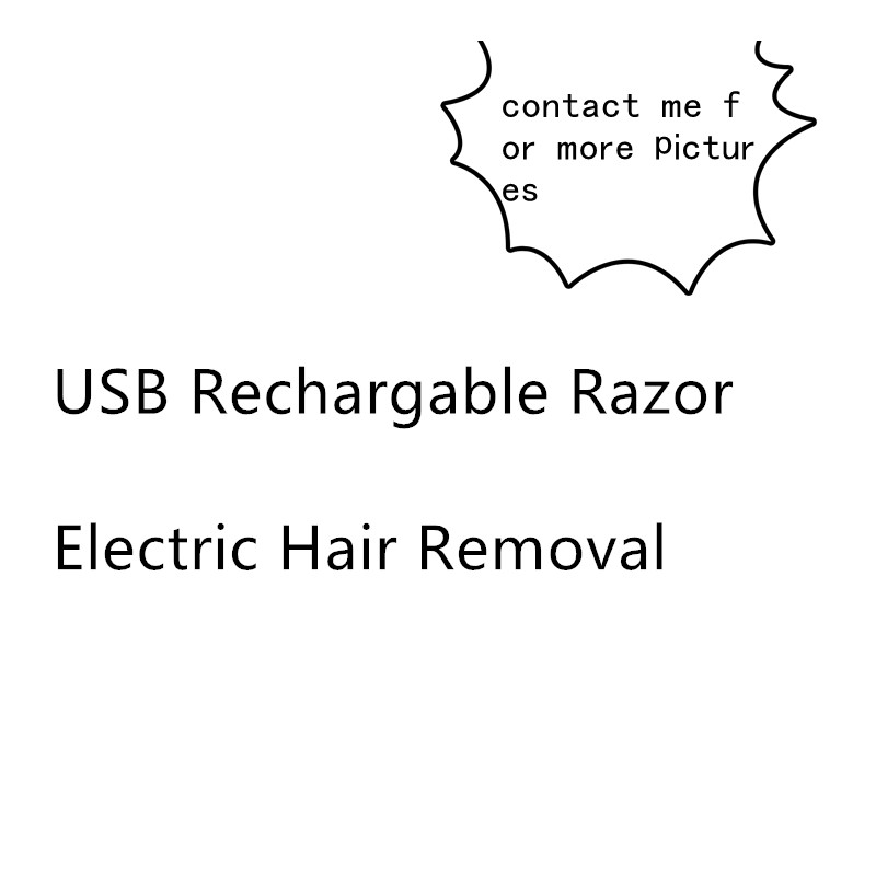 Face Cleaning USB Rechargable Razor Electric Painless Hair Removal For Body Depilator Lipstick-shape Neck Leg Shaving ToolFace Cleaning USB Rechargable Razor Electric Painless Hair Removal For Body Depilator Lipstick-shape Neck Leg Shaving Tool