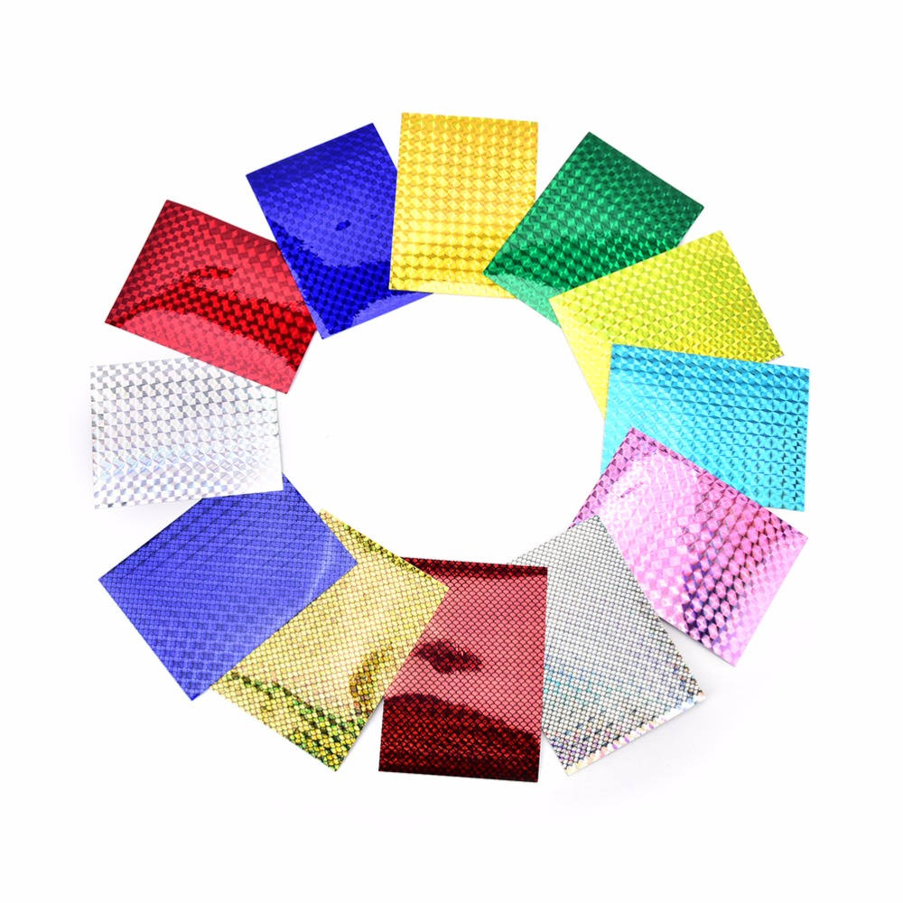 4X 10cm X 20cm Holographic Adhesive Film Flash Tape For Lure Making Fly Tying Materail 32 bags fly tying material crystal flash holographic fishing lure tying making 32 colors 150pcs bag free shipping