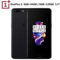 "Nuevo Original OnePlus 5 LTE móvil teléfono Snapdragon 835 Octa Core 8 GB RAM 128GB ROM 5,5 ""1920x1080 P Dual SIM 3300 mAh NFC 20MP + 16MP"