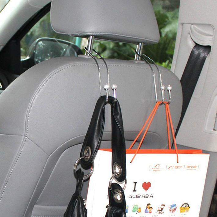 2pcs Auto Car Venicle Seat Bag Hook Hanger Holder Organizer Coat Hanger Clothes Jackets Suits Holder