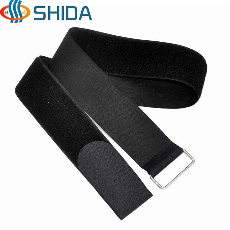 4pcs 5 cm Width 30 - 120 cm Length Cable Ties Nylon Strap Hook and Loop Magic Tape with Metal Buckle for Wire Management