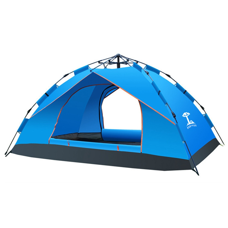 Offre spéciale Camping tente tentes de voyage en plein air Camping tente instantanée Pop Up tente Portable Protection soleil plage abri pour 4 personnes