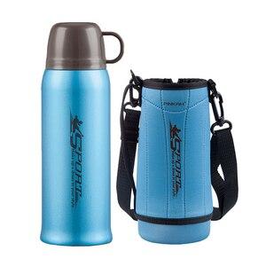 Image 4 - Pinkah Thermos 730ml z bezpłatna torba 304 kubek termiczny ze stali nierdzewnej kubek wody kubek próżniowy Outdoor Sports podróżny kubek do kawy