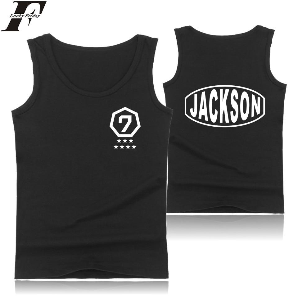LUCKYFRIDAYF GOT7   Tank     Top   men Korean K-pop Hip Hop Female Fans Cotton   Tank     Top   men Sleeveless Summer Fashion Casual Vest