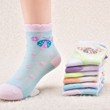 5 pairs/lot Spring Autumn High Quality Girls Socks Cotton Butterfly Candy Color Socks For Girls 2-7 Year Children Socks 5 pairs set children socks spring autumn cotton baby girls boys socks candy color 1 9 year kids cotton striped socks