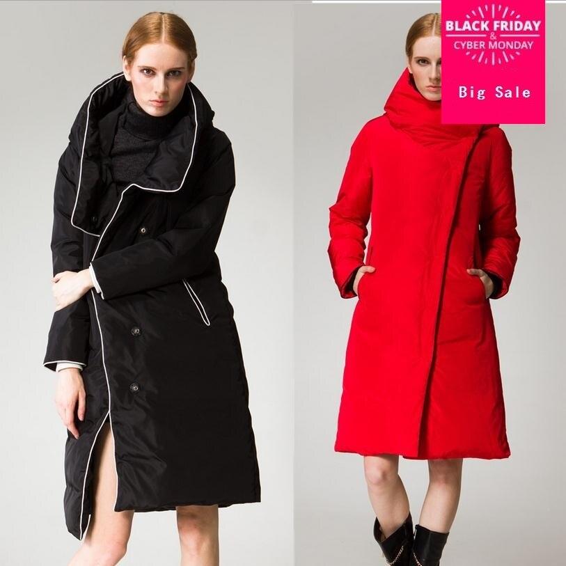 Wholesale fashon brand 90% white duck   down     coat   jacket female long plus size thicker warm winter hooded   down     coat   w840